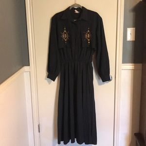 Western cowgirl rodeo vintage dress large